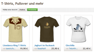 T-Shirts von spreadshirt.de