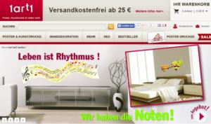Bild vom Onlineshop 1art1.de