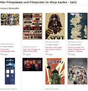Produkte aus dem 1art1.de Online-Shop