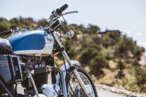 Foto mit Motorrad