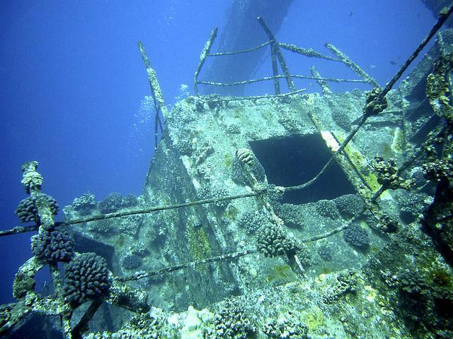 Unterwasserfotografie-Wracktauchen